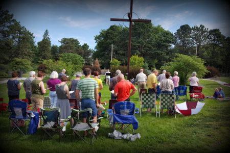 Outdoor Service in the Prayer Garden June 26
